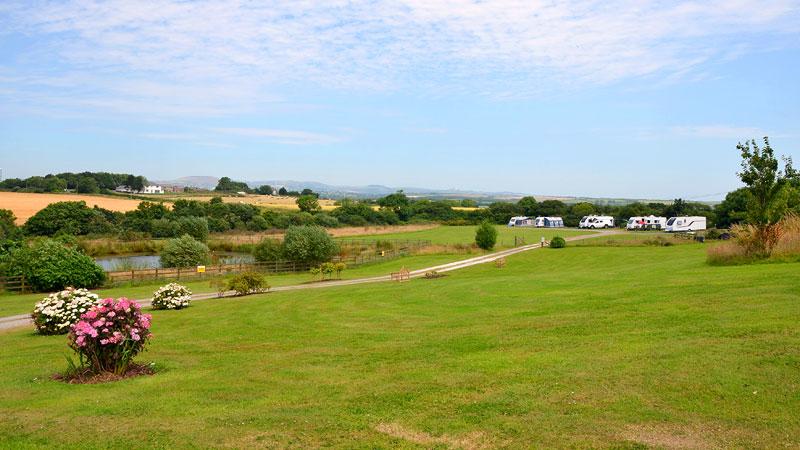 Touring Caravan Pitches Vose Farm Cornwall